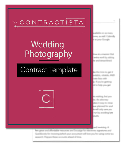 Wedding Photography Agreement Template