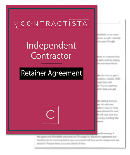 Independent Contractor Retainer Agreement Template