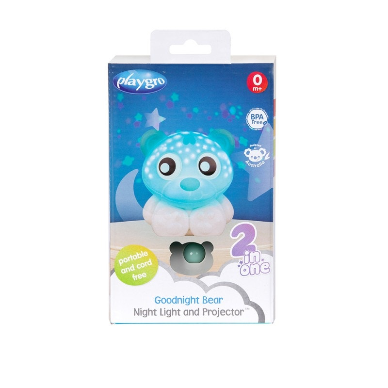 Proyector Osito 2 en 1 Playgro Goodnight Bear, Azul