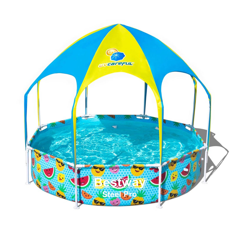 Piscina Estructural con Techo Bestway UV Careful Splash-in-Shade Play 2.44m x 51cm