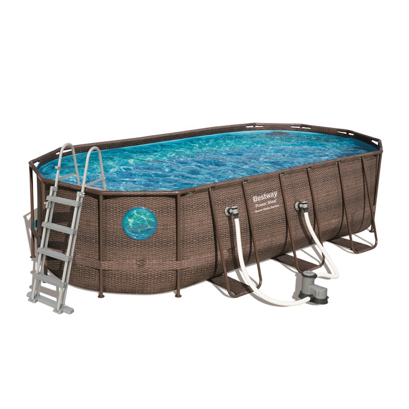 Piscina Estructural Bestway Power Steel Swim Vista 5.49m x 2.74m x 1.22m, 13.430 Litros
