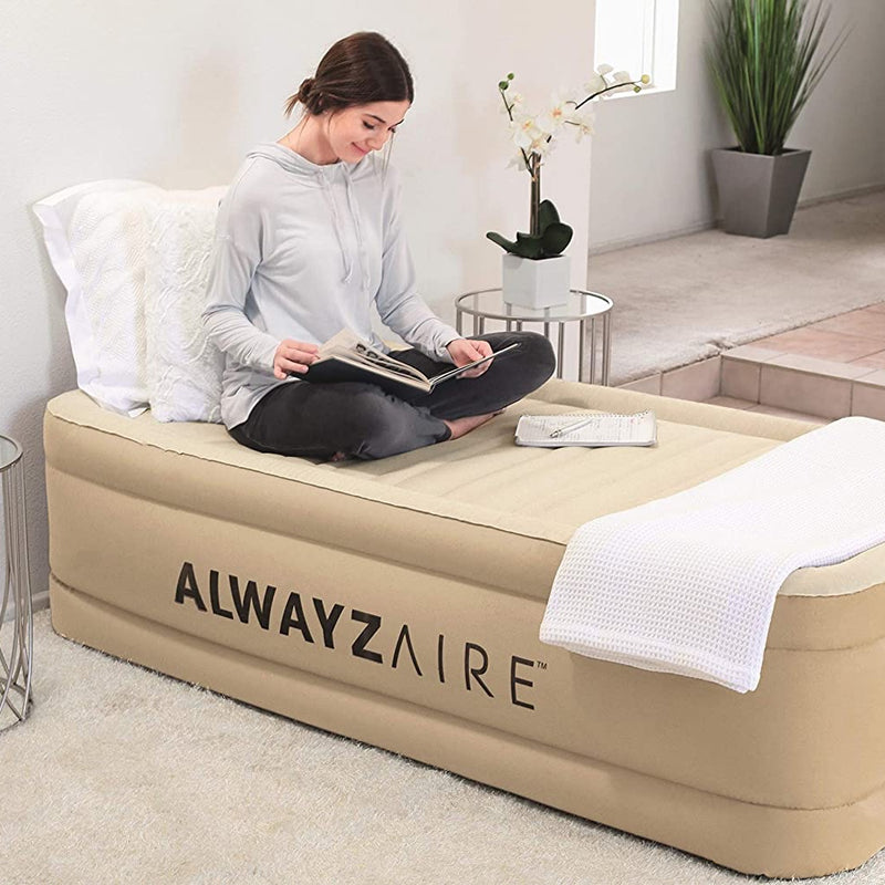 Colchón Inflable Bestway AlwayzAire Comfort Choice Fortech 1 Plaza con inflador Eléctrico
