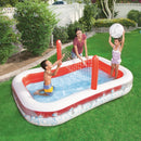 Piscina Inflable con Red de Voleibol Bestway Inflate-A-Volley 254 x 168 x 97 cm