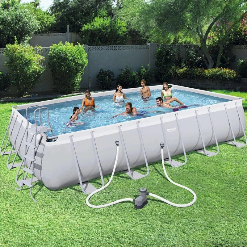 Bestway Piscina Estructural Power Steel 6.71m x 3.66m x 1.32m, 26.845 Lts., Rectangular
