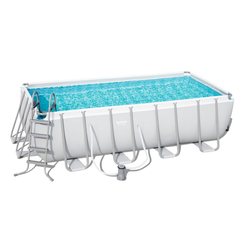 Bestway Piscina Estructural Power Steel 4.88m x 2.44m x 1.22m, 11.532 Lts., Rectangular