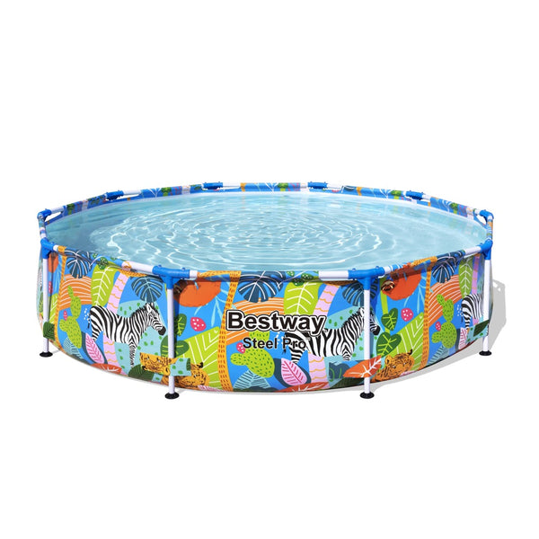 Piscina Estructural Bestway Steel Pro Animal Graphic 3.05m x 66cm, 4.062 Litros