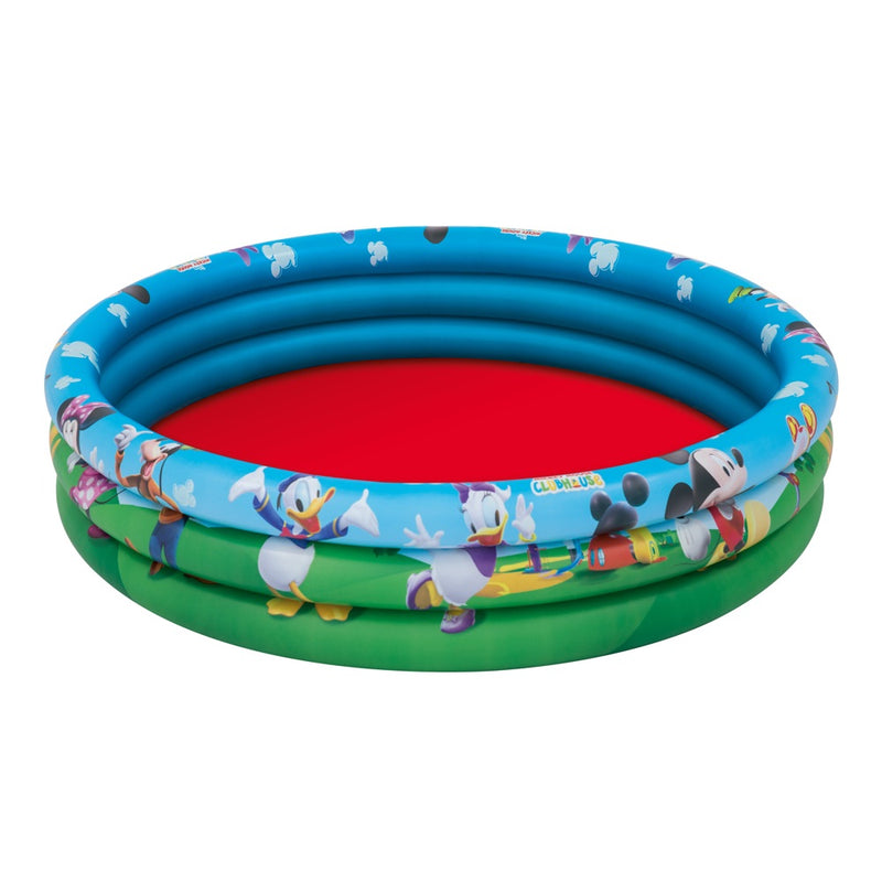 Bestway Piscina Inflable Mickey Mouse Clubhouse 122 x 25 cm, 140 Litros