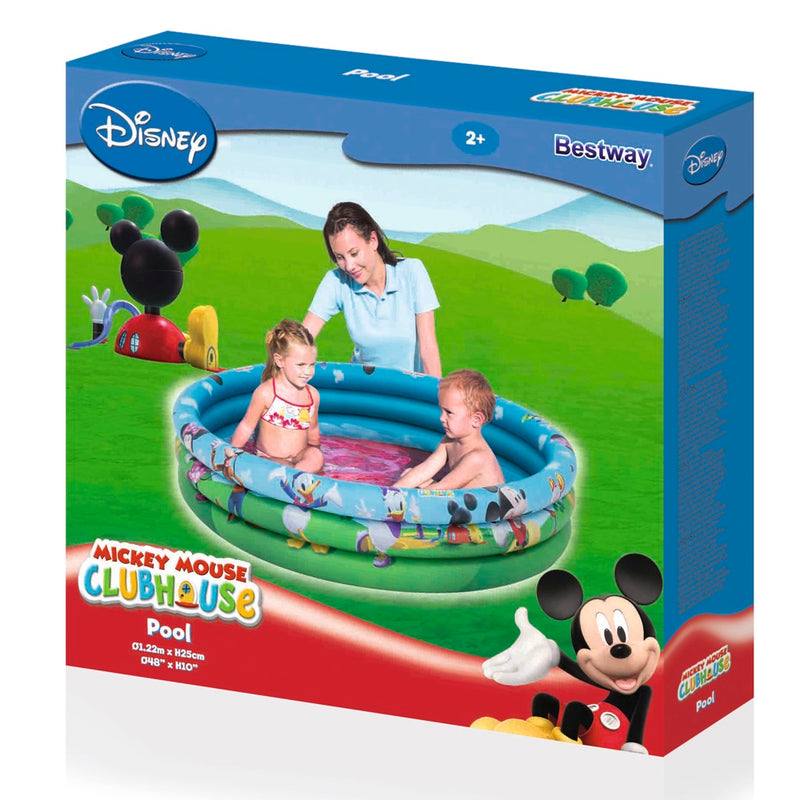 Piscina Inflable Bestway Mickey Mouse Clubhouse 122 x 25 cm, 140 Litros