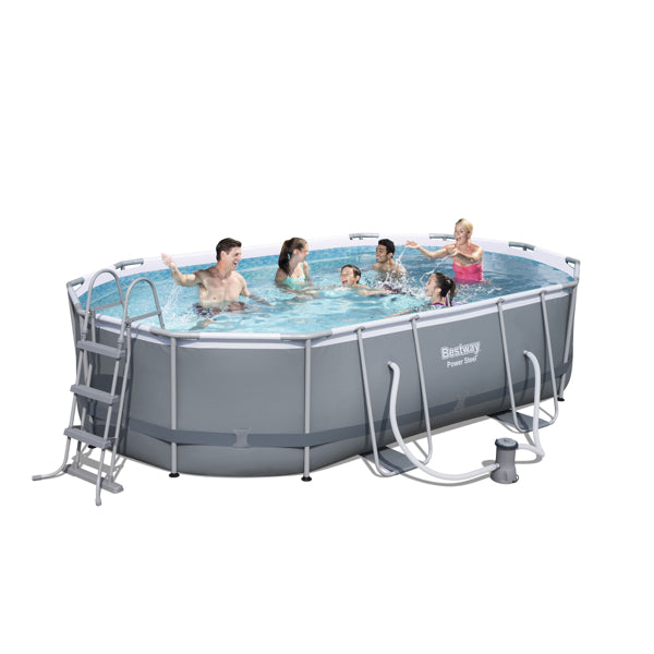 Bestway Piscina Estructural Power Steel 4.88m x 3.05m x 1.07m, 10.949 Lts., Oval