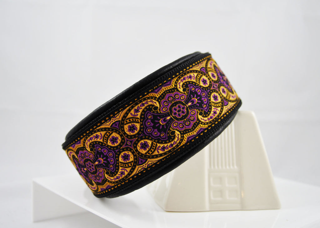 Leather & Ribbon Collars - 2""