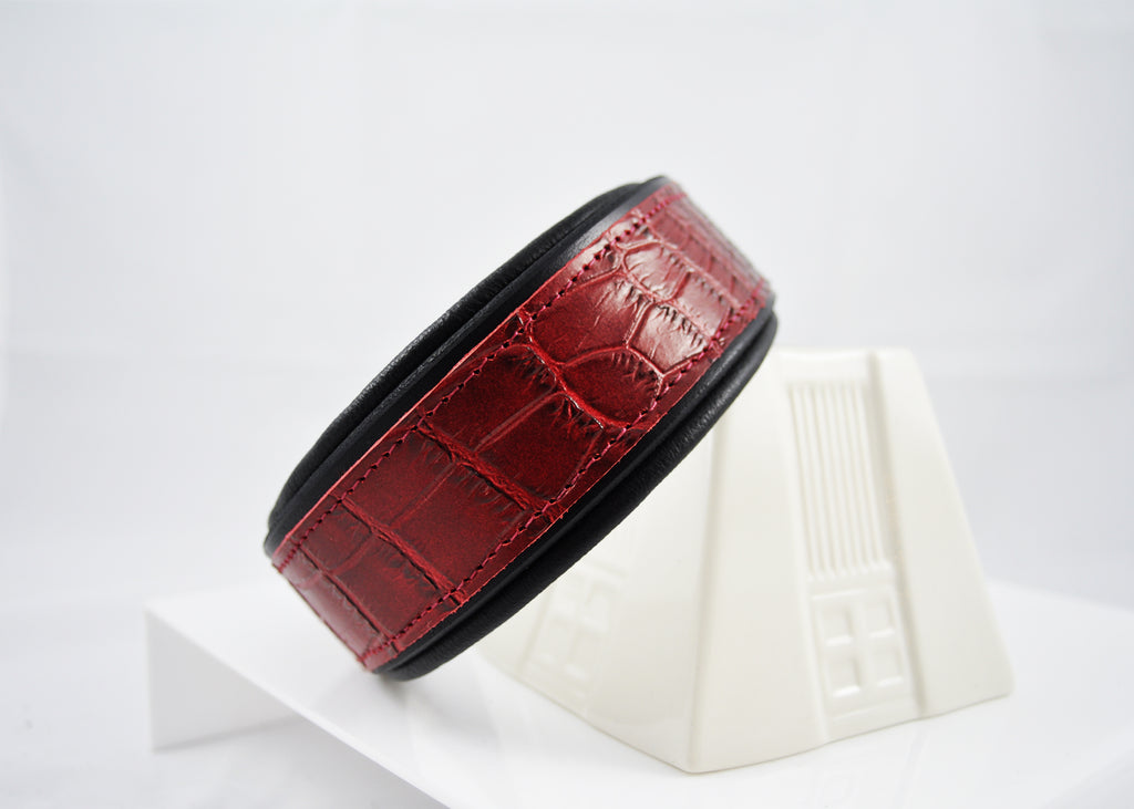 Cherry Croc Embossed Leather CUSTOMIZED