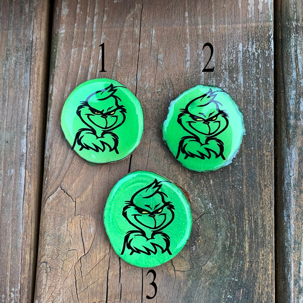 Grinch Faces - Wood & Resin