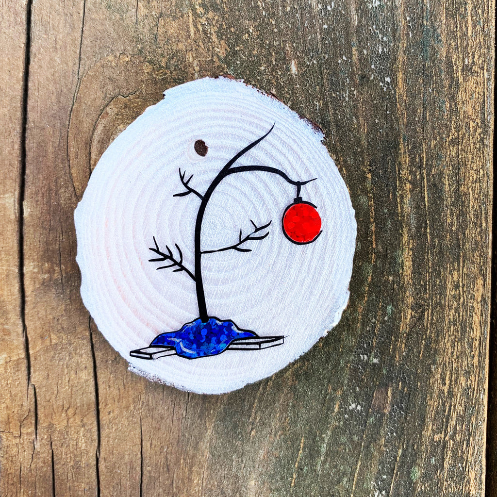 Charlie Brown Tree - Wood & Resin