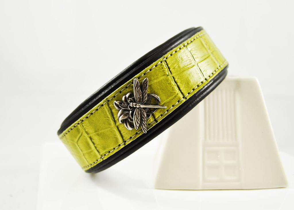 Lime Croc Embossed Leather CUSTOMIZED
