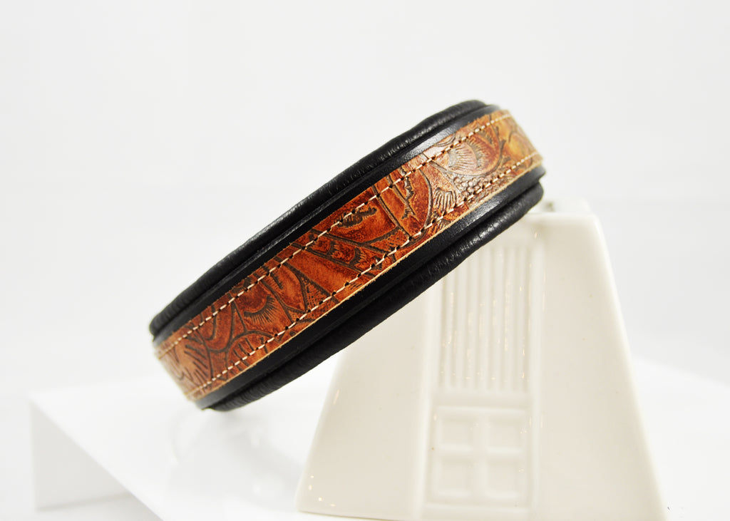 Nutmeg Tooled Saddle Leather CUSTOMIZED