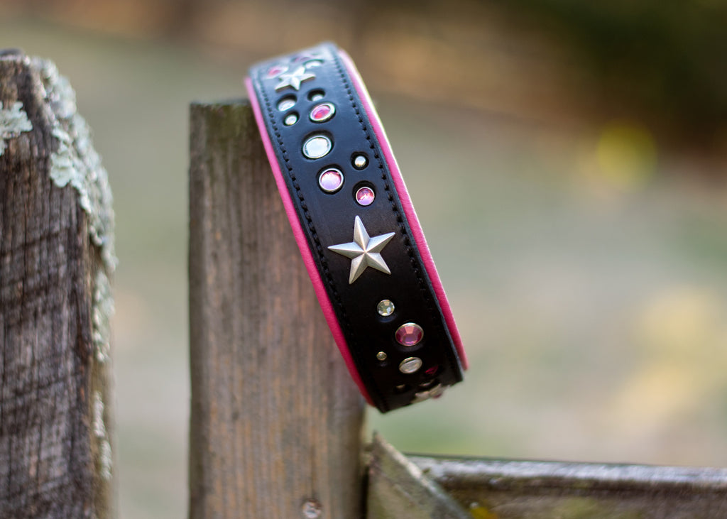 Starry Sky Bling Collar - limited slip martingale - SIZE 18""