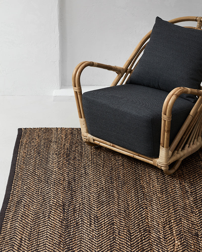 Armadillo & Co Serengeti Charcoal & Natural Rug