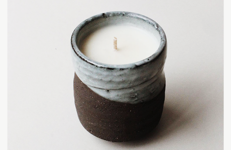 Kuro Black Clay/Blue Glaze Candle