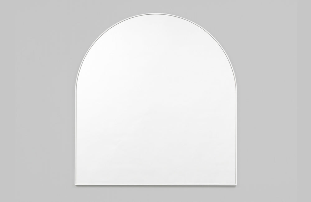 Middle of Nowhere White Bjorn Arch Mirror