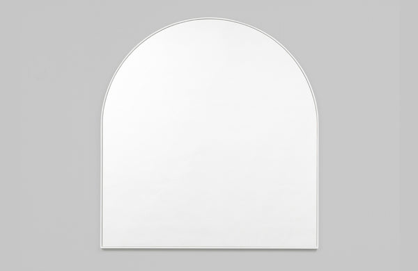 Middle of Nowhere Bright White Bjorn Arch Mirror