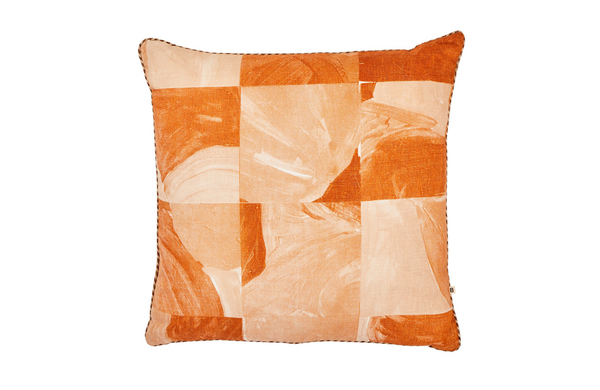 patchwork nutmeg orange cushion