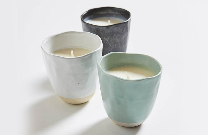 Provider Store Charcoal Japanese Stoneware Candle
