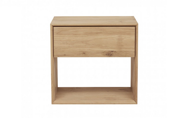 Oak Nordic Tall Nightstand