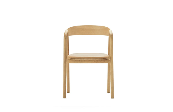 Tolv Natural Inlay Chair / Canyon Leather Seat