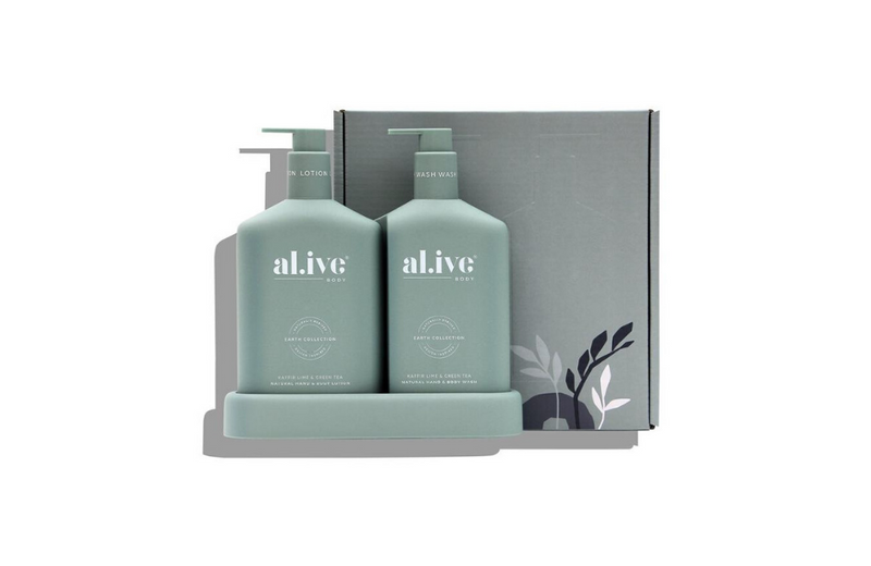 Wash  & Lotion Duo + Tray - Kaffir Lime & Green Tea
