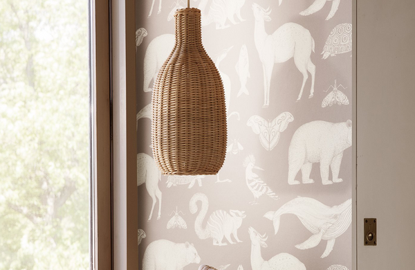 Braided Lampshade - Bottle - Natural