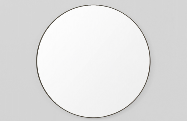 Middle of Nowhere - Black Flynn Round Mirror
