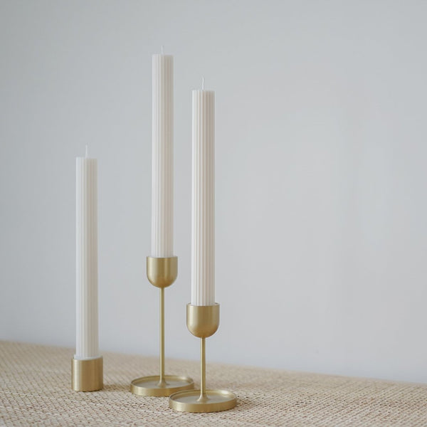Fountain Brass Candle Holder Medium
