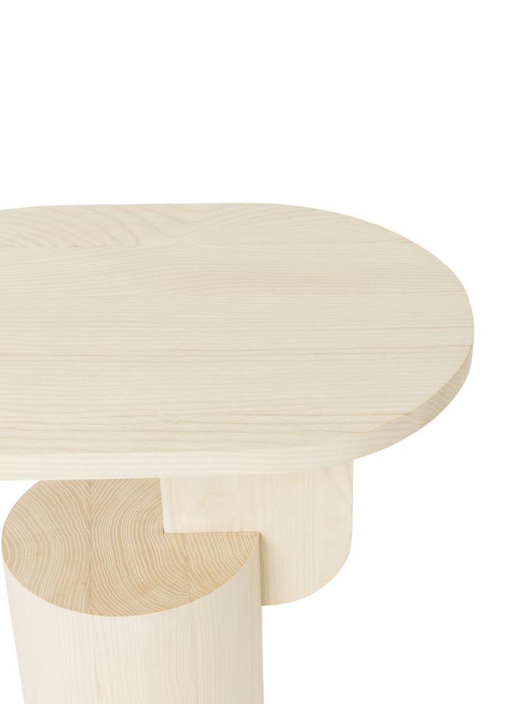 Insert side table natural ash
