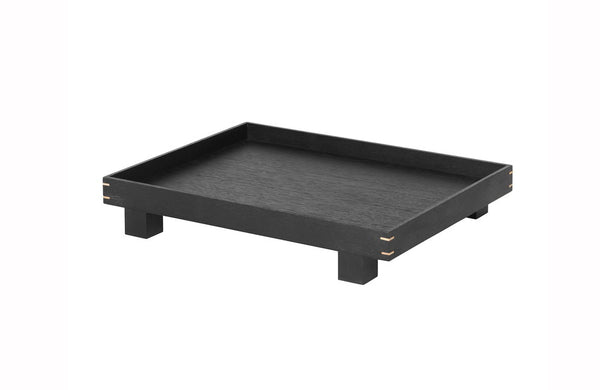 bon wooden tray large black