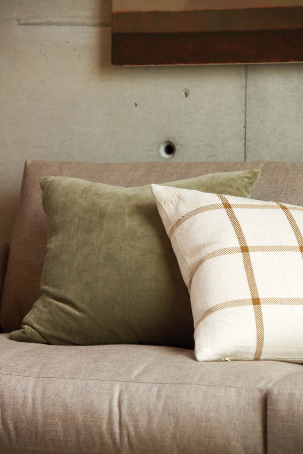 Bento Woven Cushion Cover - Natural / Bronze