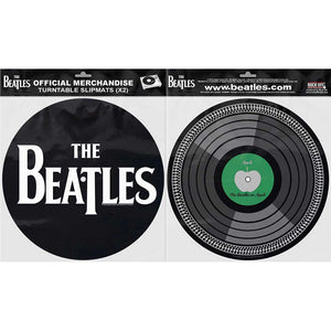 THE BEATLES TURNTABLE SLIPMAT SET: DROP T LOGO & APPLE