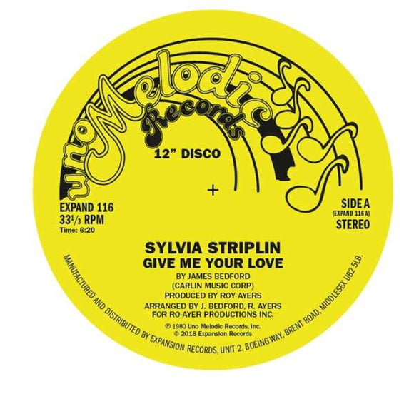 Striplin,sylvia - Give Me Your Love / You Cant - 12