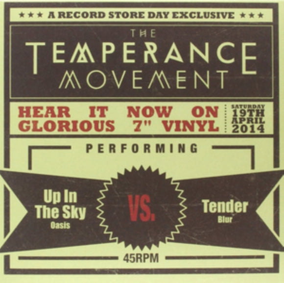 The Temperance Movement - Up In The Sky / Tender NEW 7