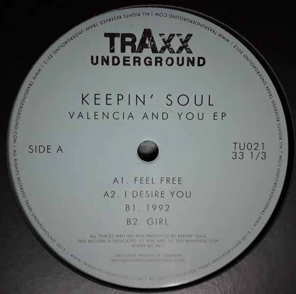 Keepin Soul - Valencia And You EP 12
