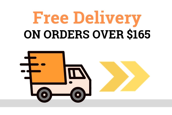 Free delivery on orders over $165