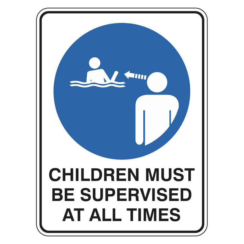 Mandatory Sign - Children Must Be Supervised At All Times
