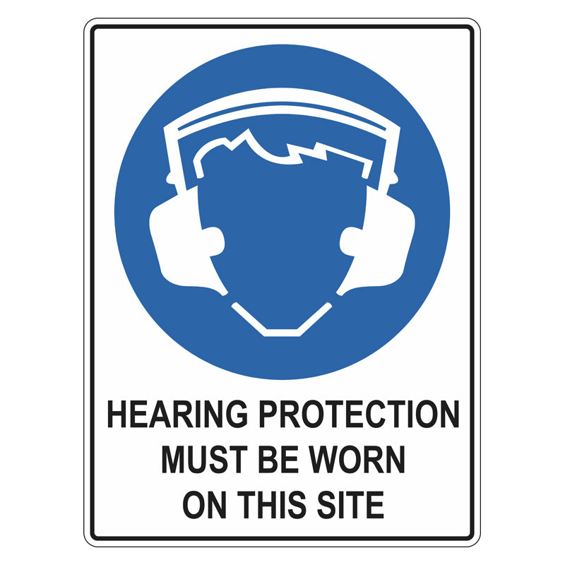 Mandatory Sign - Hearing Protection Must Be Worn On This Site