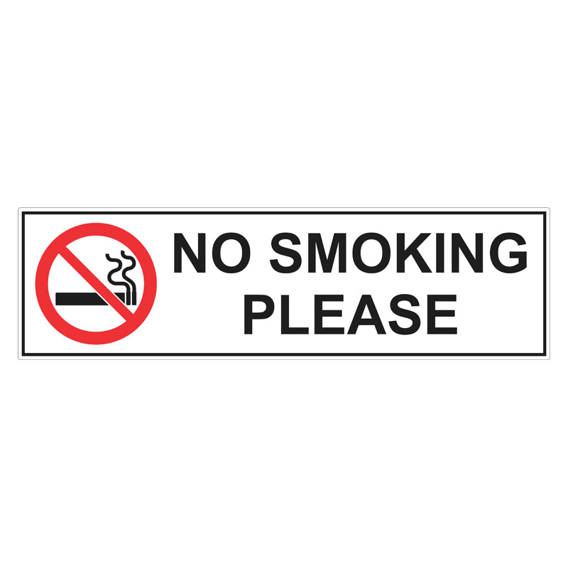 Prohibition Sign - No Smoking Please