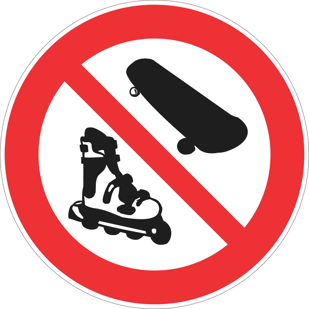 Prohibition Sign - No Skateboards / Rollerblades