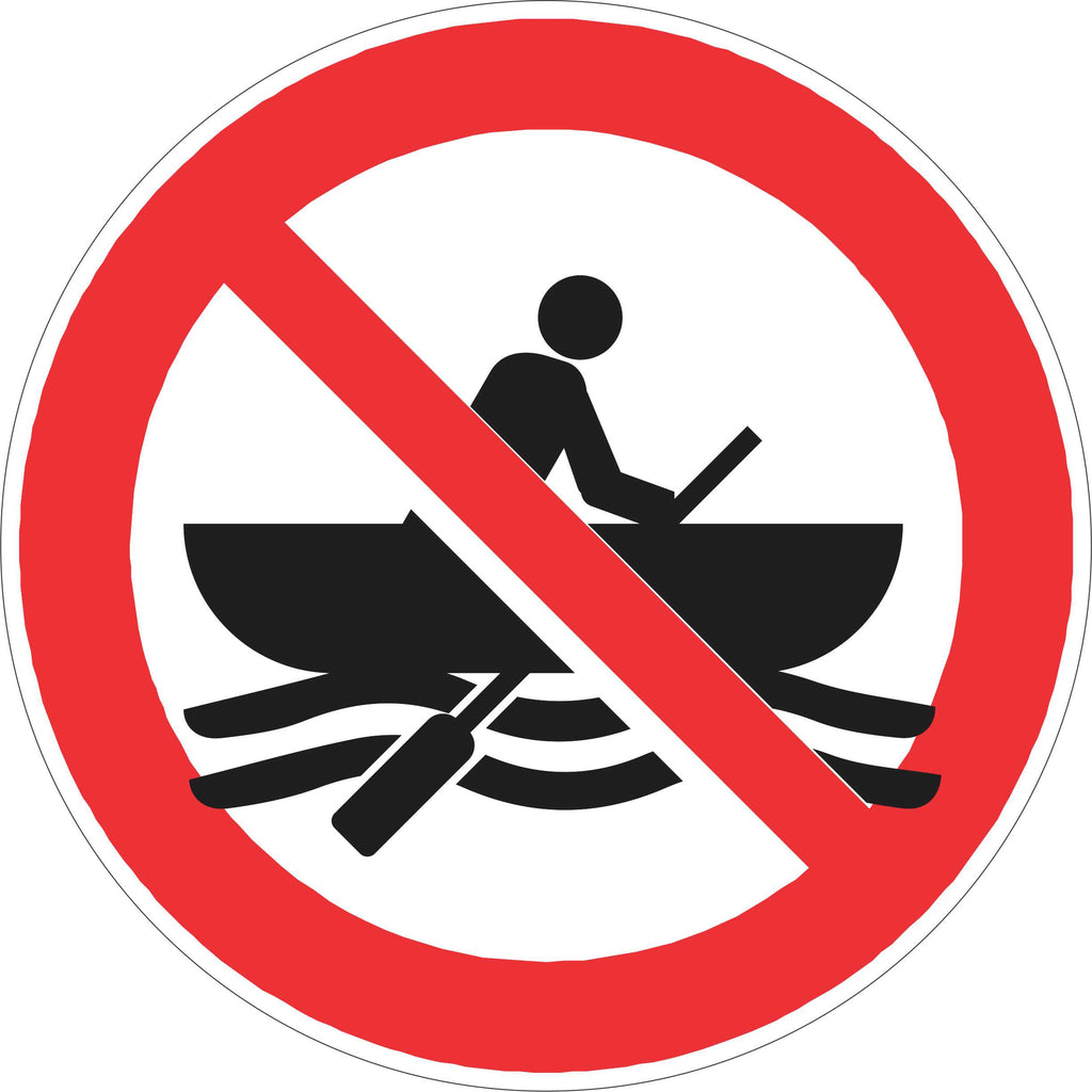 Prohibition Sign - No Boats