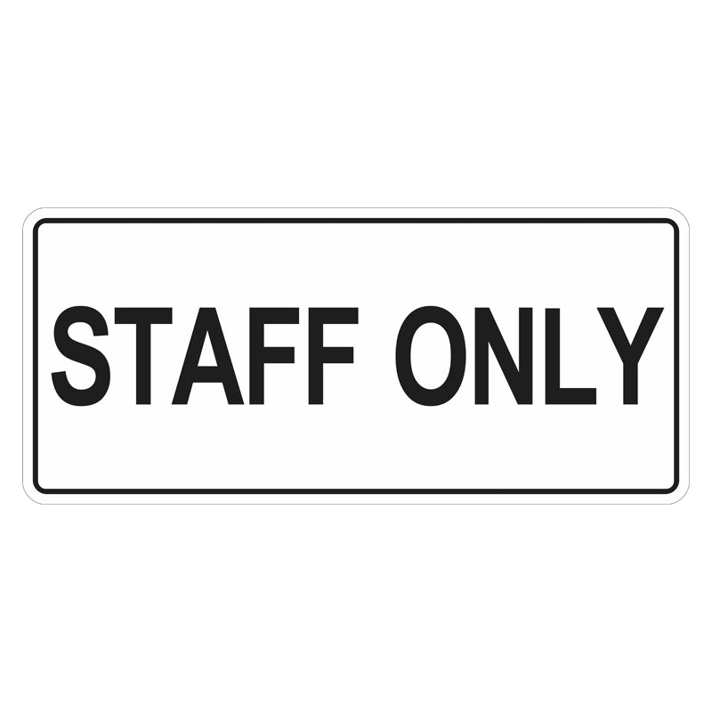Car Park Sign - Staff Only