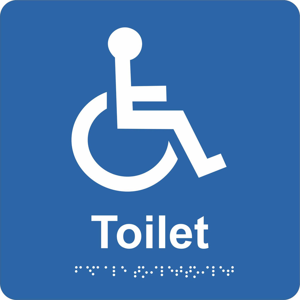 Braille Sign - Accessible Toilet