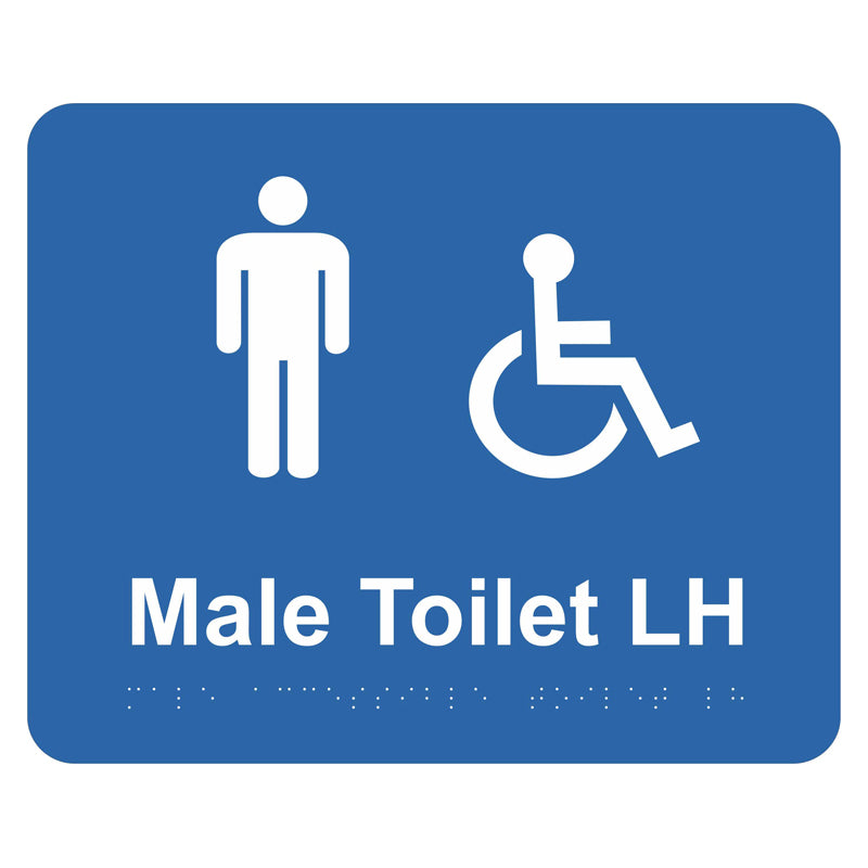 Braille Sign - Male Accessible Toilet LH