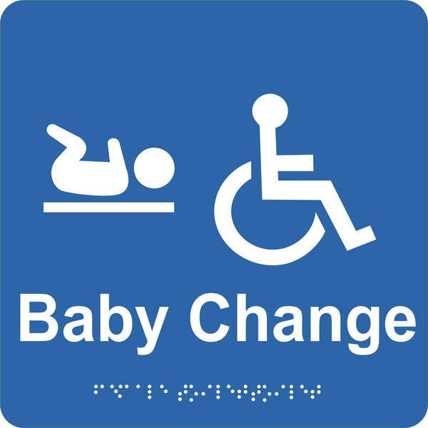 Braille Sign - Accessible Toilet & Baby Change