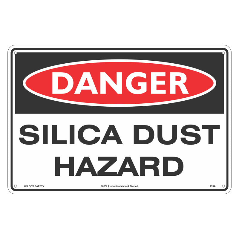 Danger Sign - Silica Dust Hazard